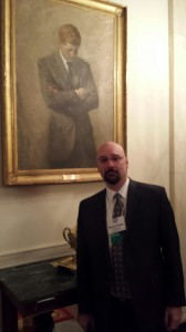 picture with kennedy portrait